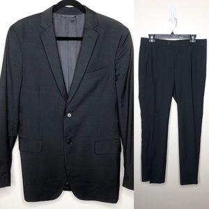 John Varvatos Two Piece Slim Fit Suit Dark Grey